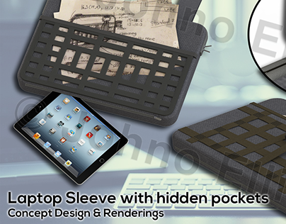Laptop Sleeve Concept Design and Renderings