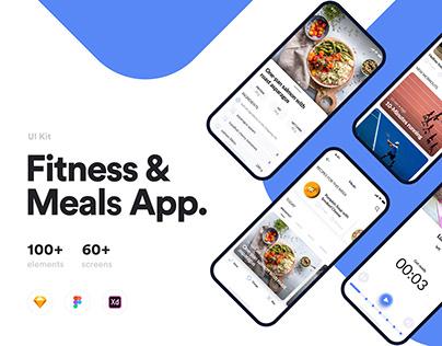 FitMe UI Kit — Fitness&Meals App