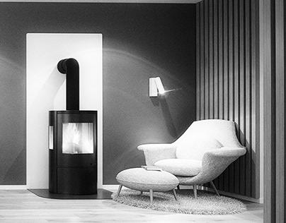 Scandinavian hus interior