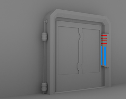 Sci-fi Door [Game Asset]