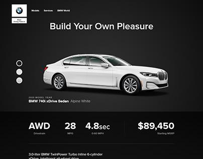 2020 BMW 7 Series Concept Web Design