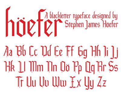 Hoefer Blackletter Typeface