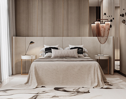 3D Rendering for a Bedroom Design Project