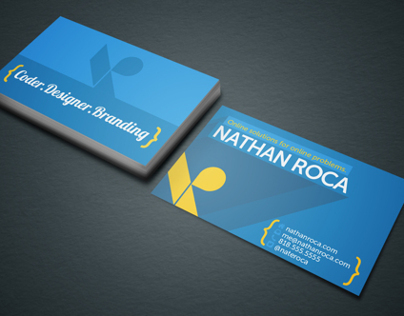 Personal Business Card Redesign