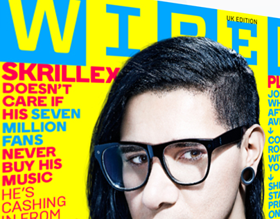 WIRED May 2015 Interactive Skrillex Cover