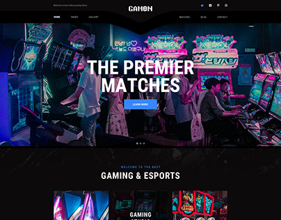 Gamon - eSports and Gaming Template