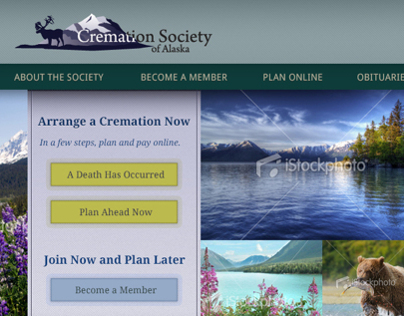 Cremation Society of Alaska Website Design
