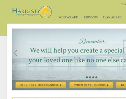 Hardesty Funeral Home Website Design