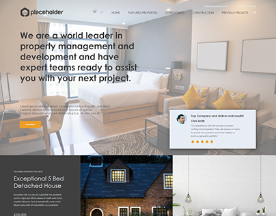 Property Company Website Concept