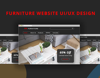 Furniture web UI/UX Design