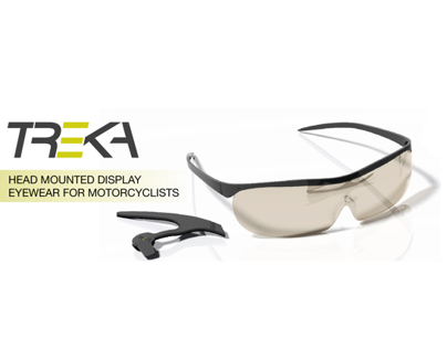 Head Mounted Display Eyewear for Motorcyclists
