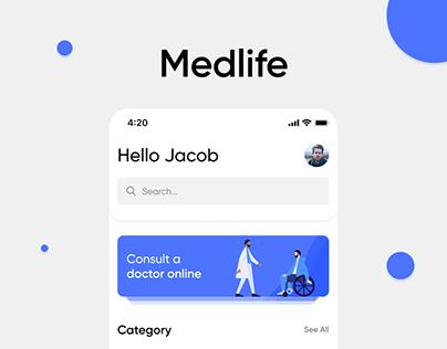 Medlife-Mobile App UX/UI