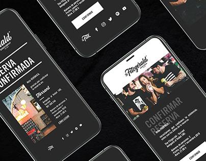 Diseño app, newsletter, landing page.