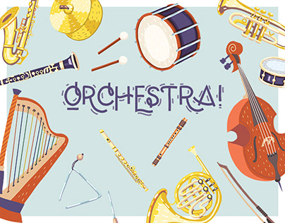 Orchestra! Set of vector illustrations