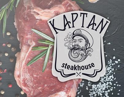 Kaptan Steakhouse - Logo Design