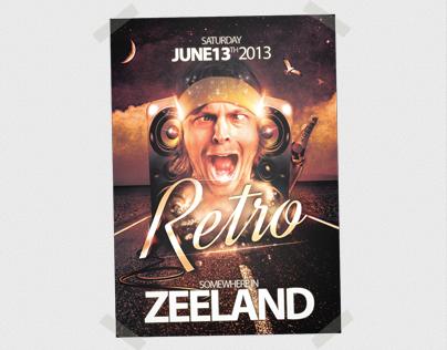 Poster Retro Zeeland