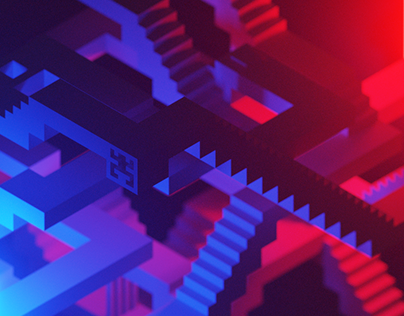 'Entrance to Exit' — labyrinth voxel art