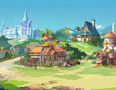 2D Game Scene design