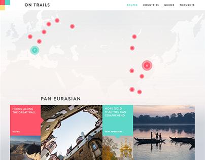 On Trails - Travel Blog Concept
