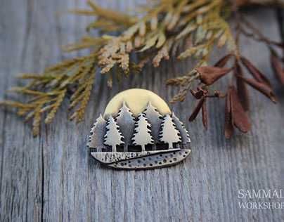 Forest brooch