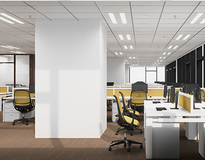 Office interior 3D visualization
