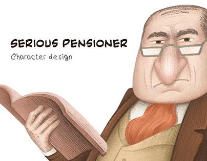 "Character Design ""Serious pensioner"""