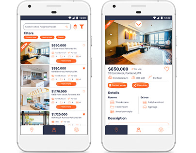 Real estate searching app