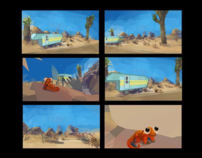 VR Illustration - Desert