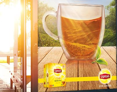 A cup of sunshine - Lipton (print, OOH)