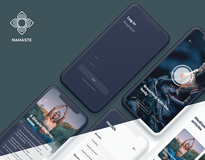 Namaste - Meditation App Sketch Template
