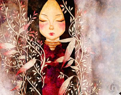 Folklore picture book illustration