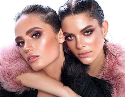 Twins. Pink & Black