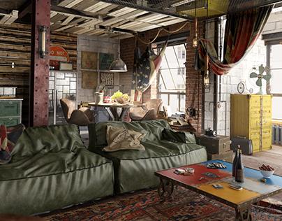 """""""Kashirskiy"""" loft apartment"""
