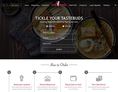 Food Ordering Web Page Sample