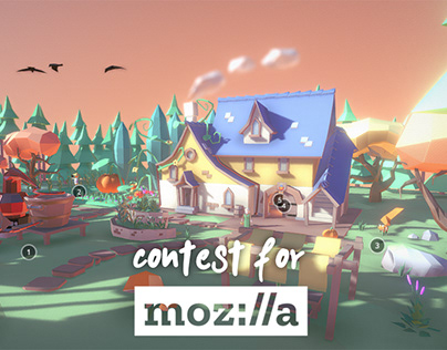 3D lowpoly modeling contest for Mozilla Reality
