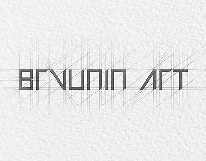 Шрифтовое начертание логотипа bryunin art.
