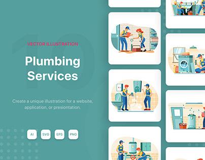 Plumbing Service Illustrations