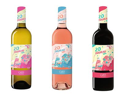 Domaine Cazes - Étiquettes vin nouveau