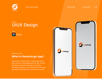 Case Study for Gorecharge mobile app