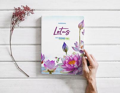 Book cover design: Gardening Lotus