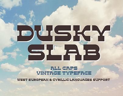 Dusky Slab - vintage font