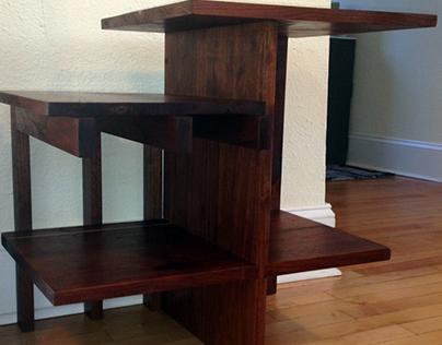 Mid Century Solid Walnut Side Table