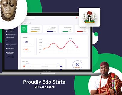 Edo State IGR Dashboard Interface