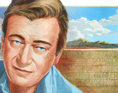 John Wayne Illustrated