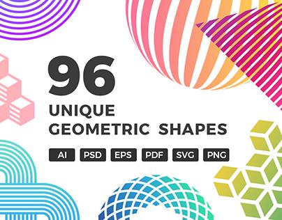 96 Unique Geometric Shapes