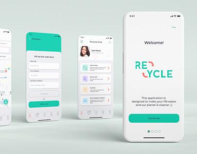 Recycle App - UX/UI concept
