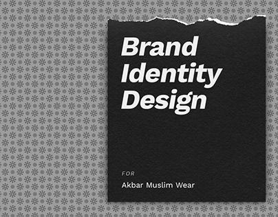 Akbar Muslim Wear Brand Identity