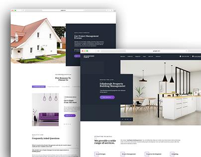 Property Development Homepage Design