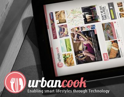 Urbancook branding, website and mobile app