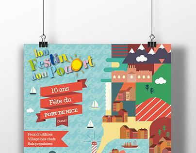 La fête du port de Nice - Affiche